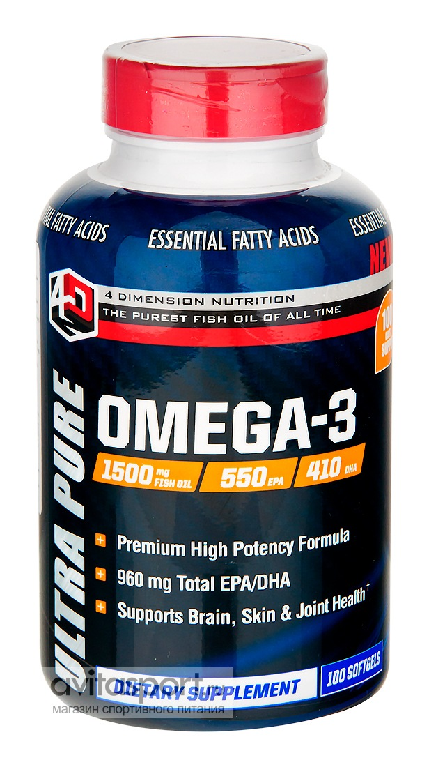 4D Nutrition Omega-3 100 капсул