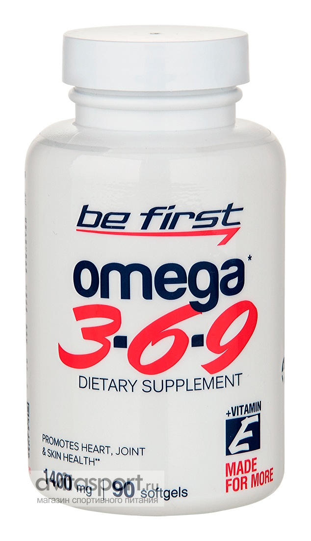 Be First Omega 3-6-9 90 гелевых капсул