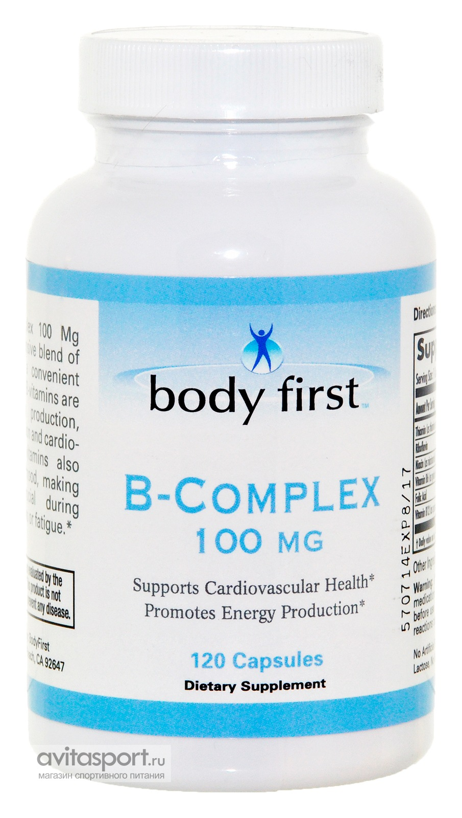 Body First B-Complex 100mg 120 капсул
