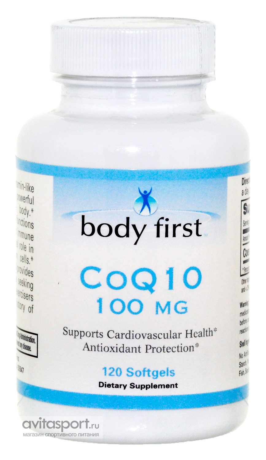 Body First CoQ10 100 mg 120 гелевых капсул
