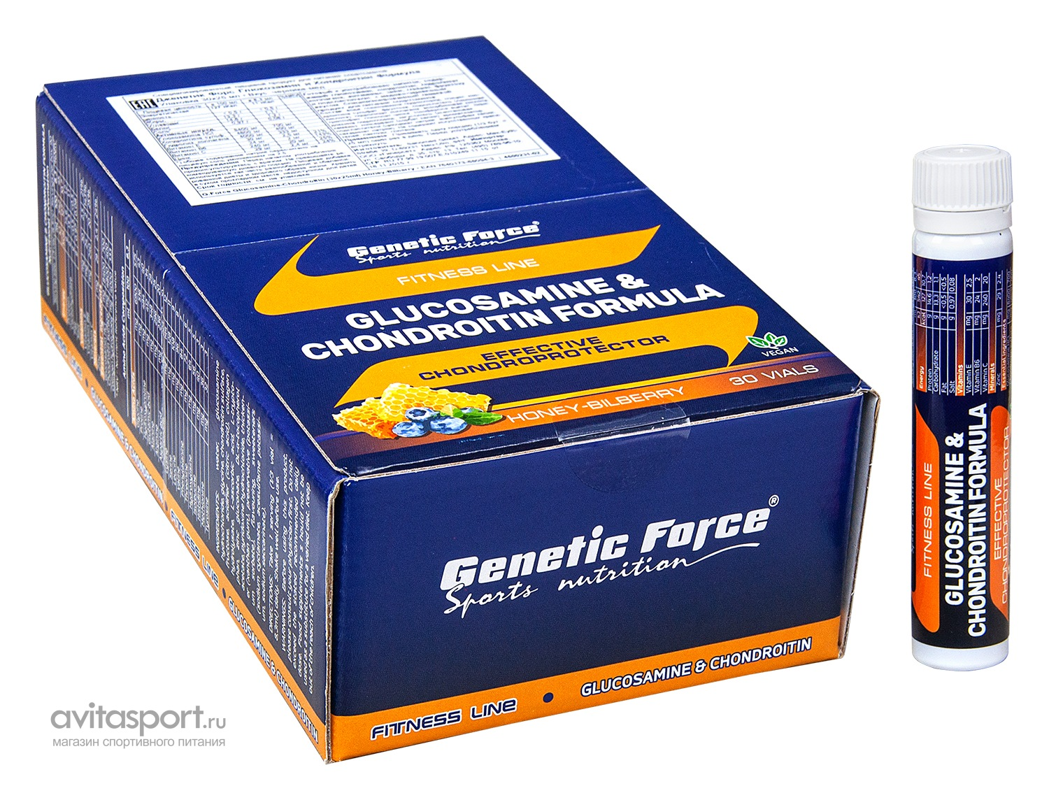 Genetic Force Glucosamine & Chondroitin Formula 30 ампул * 25 мл