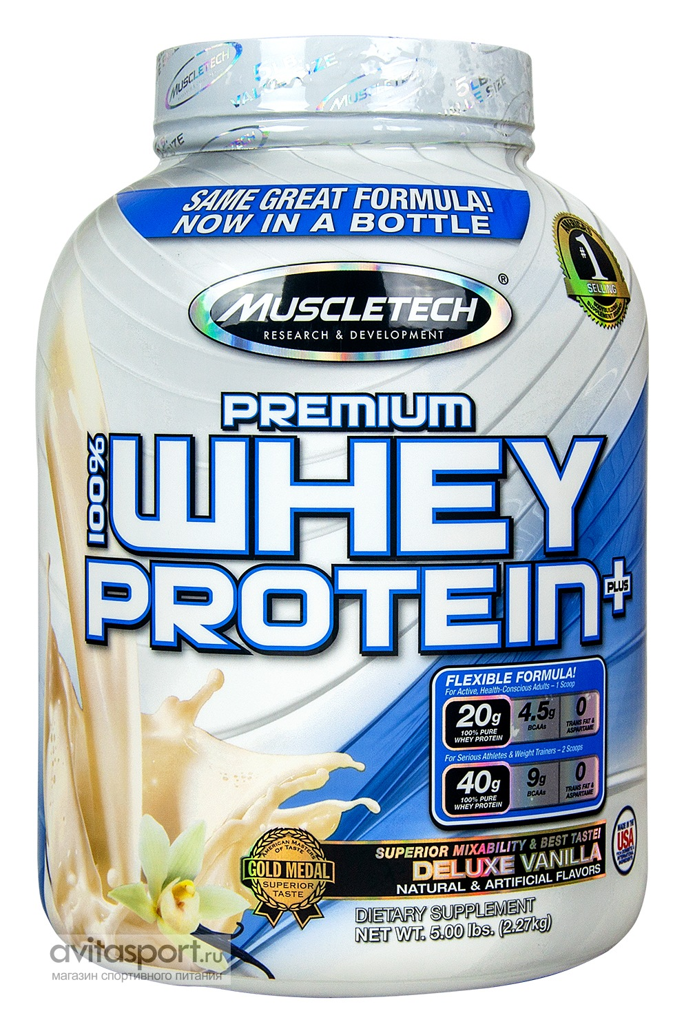 MuscleTech 100% Premium Whey Protein Plus 2270 г
