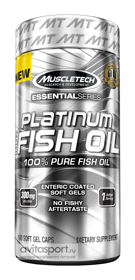 MuscleTech Platinum 100% Fish Oil 100 капсул