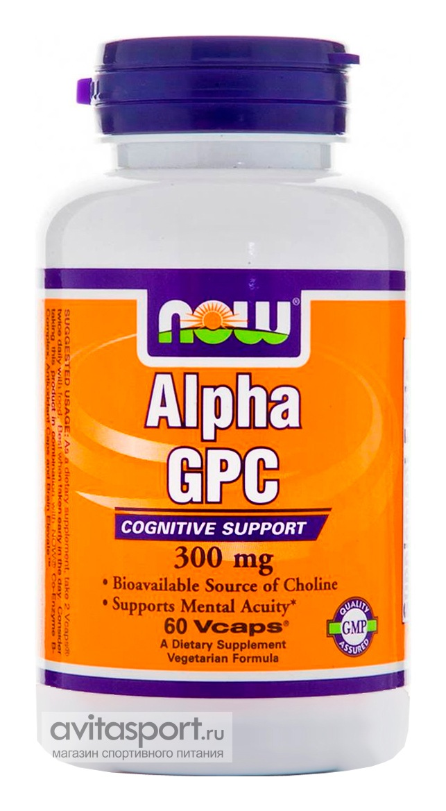 NOW Alpha-GPC 300 мг / 60 капсул