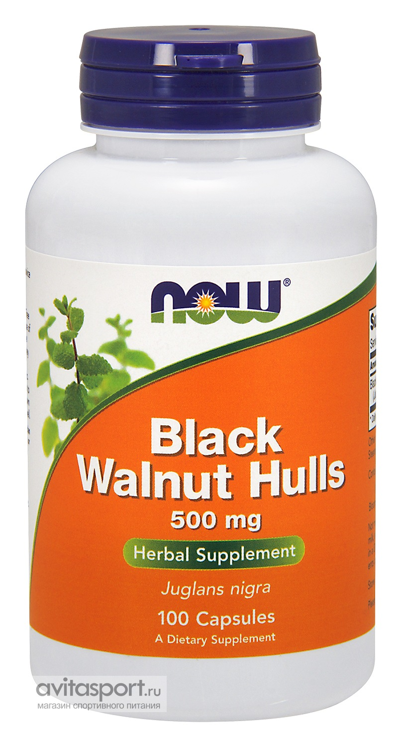 NOW Black Walnut Hulls 100 капсул