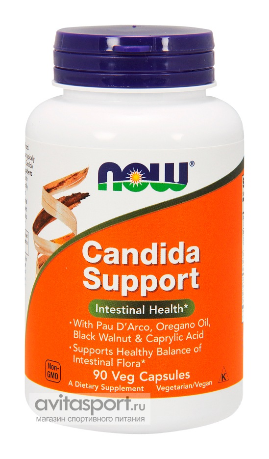 NOW Candida Support 90 капсул вегетарианских