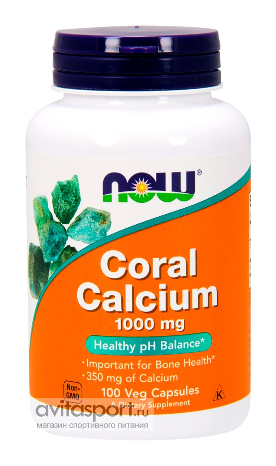 NOW Coral Calcium 1000 мг / 100 капсул