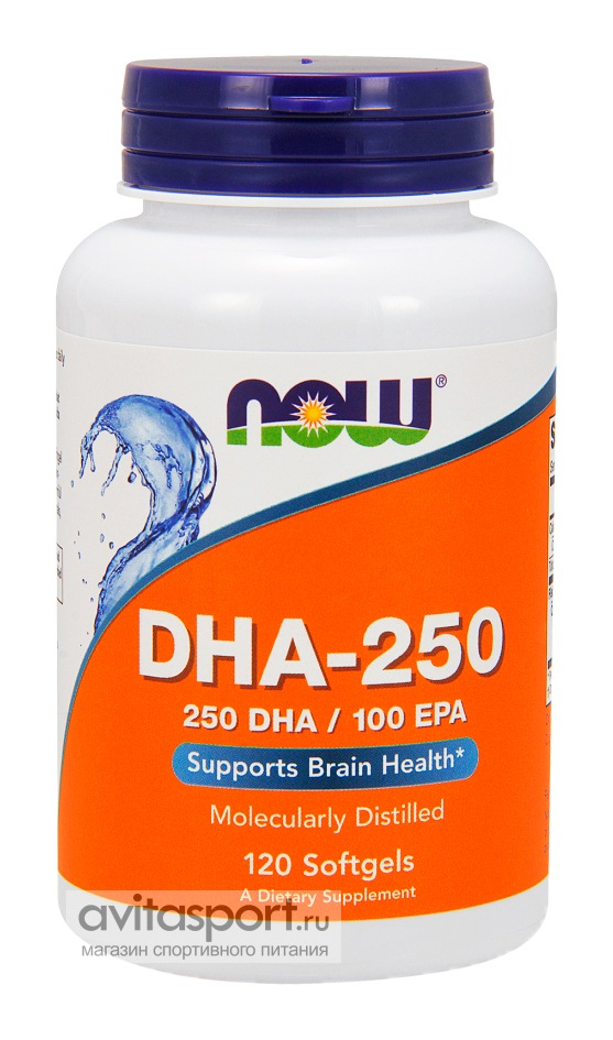 NOW DHA-250 120 гелевых капсул