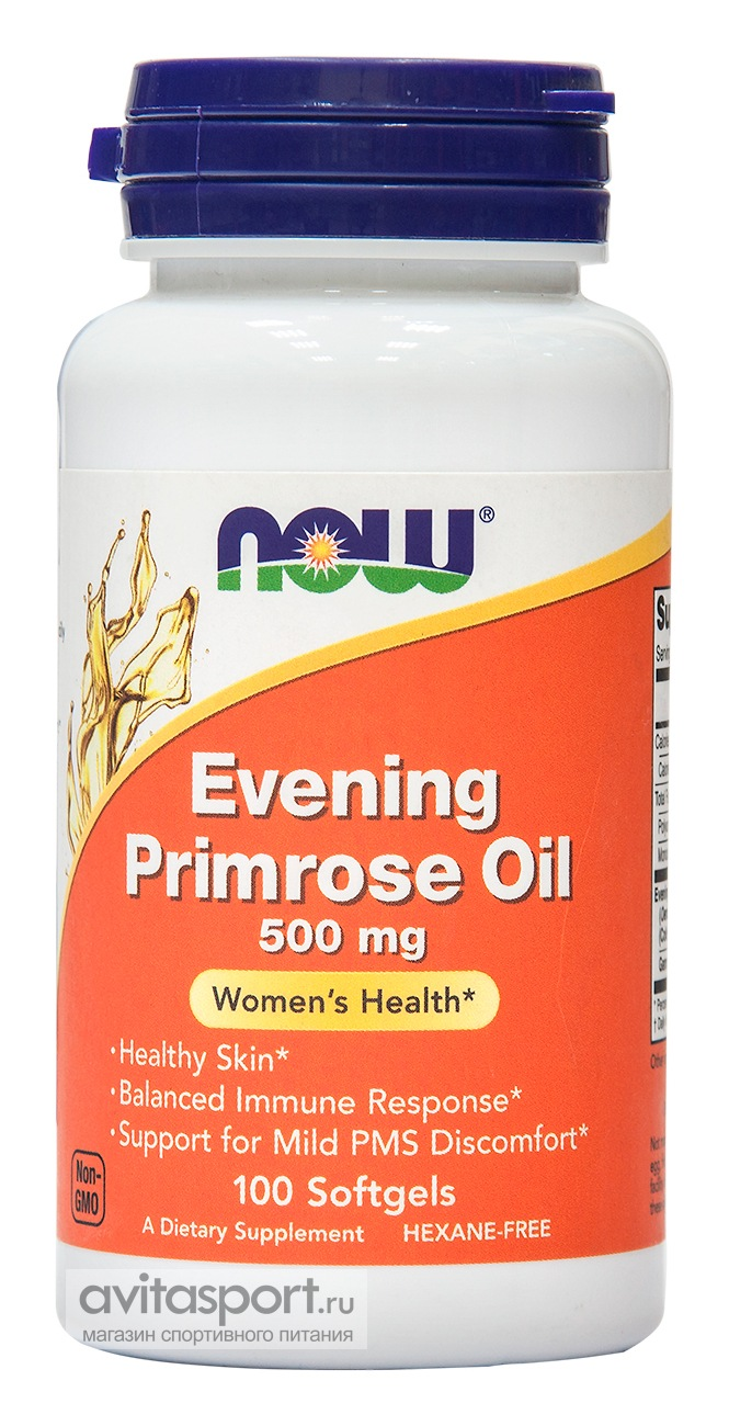 NOW Evening Primrose Oil 500 мг / 100 гелевых капсул