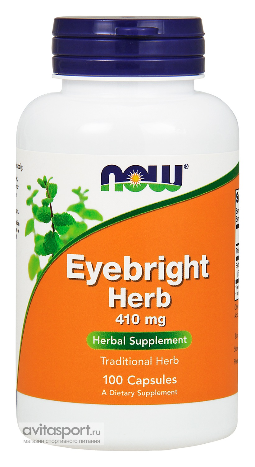 NOW Eyebright Herb 410 мг / 100 капсул вегетарианских