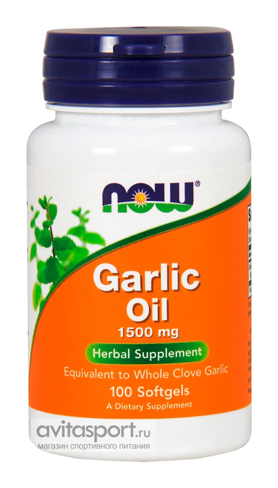 NOW Garlic Oil 1500 мг / 100 капсул гелевых