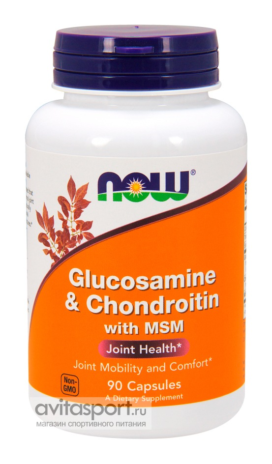 NOW Glucosamine & Chondroitin with MSM 90 капсул