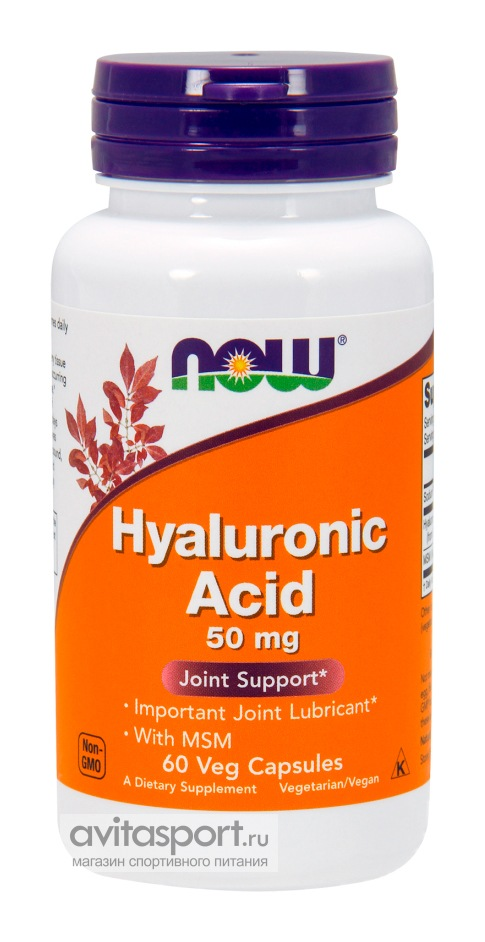 NOW Hyaluronic Acid 50 мг / 60 капсул