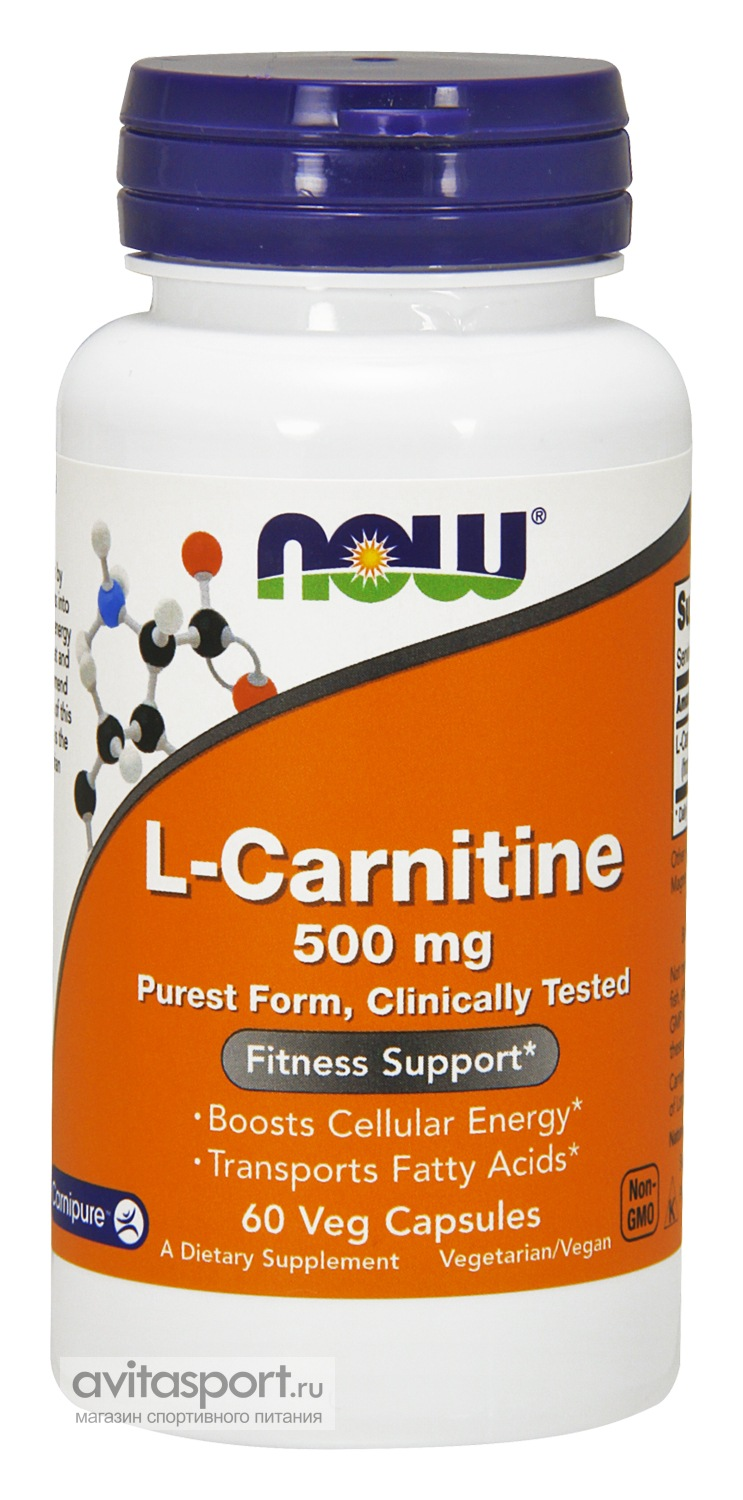 NOW L-Carnitine 500 мг / 60 капсул