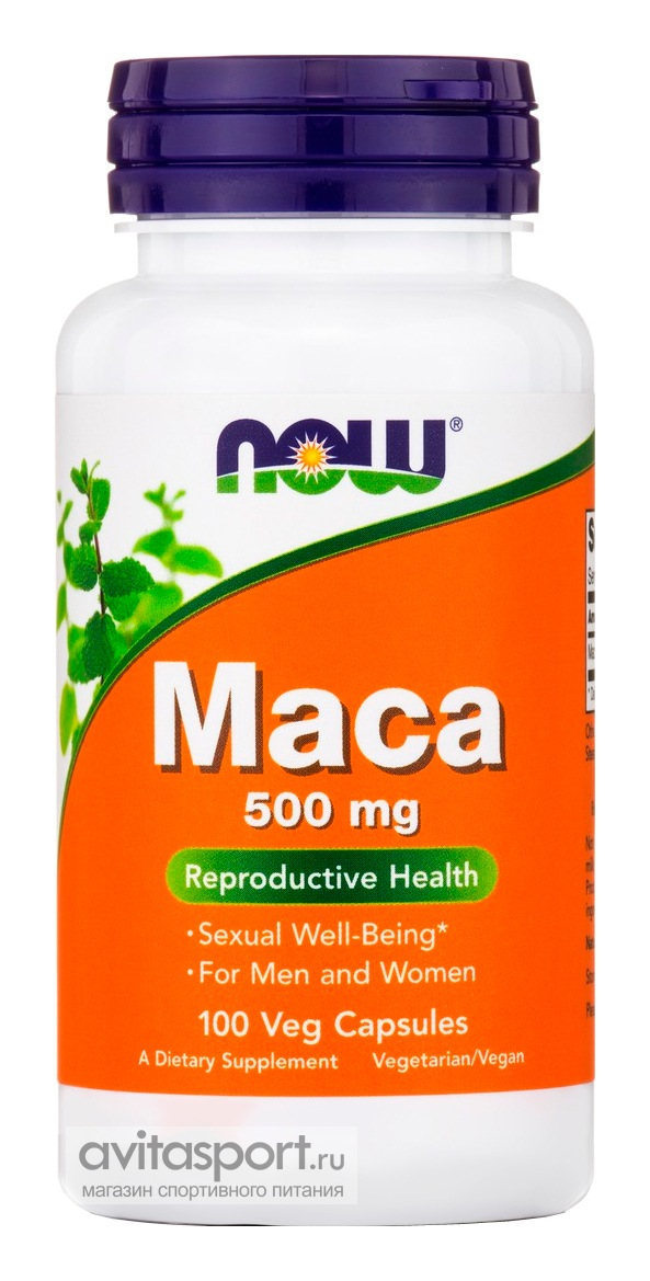 NOW Maca 500 мг / 100 капсул