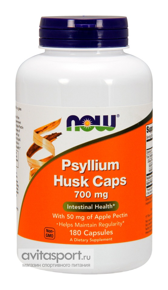 NOW Psyllium Husk Caps 700 мг / 180 капсул