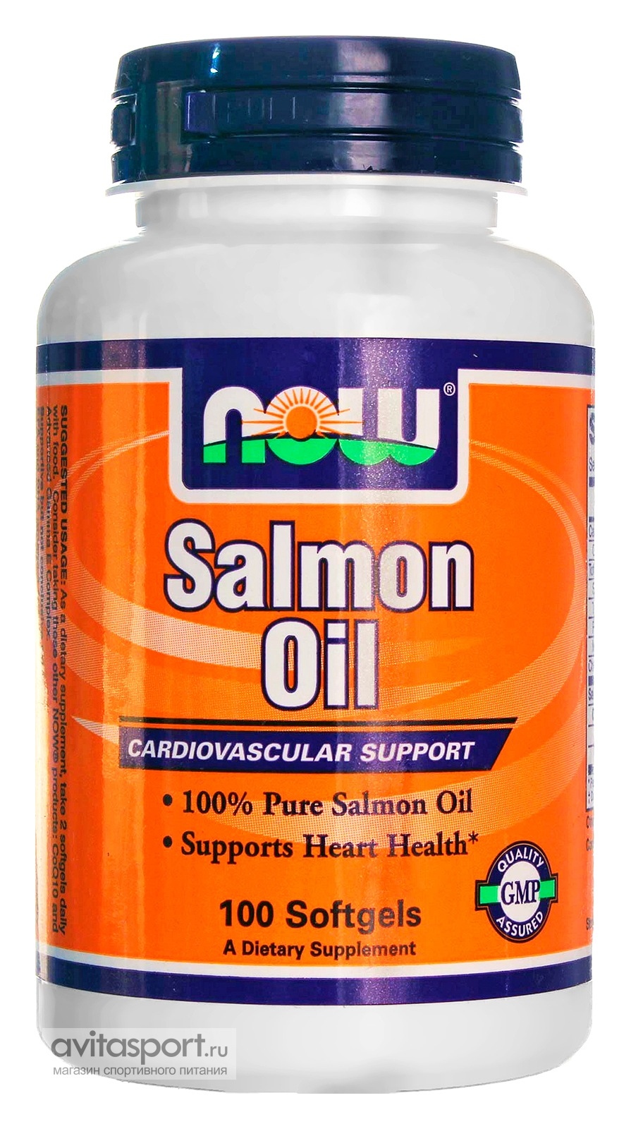 NOW Salmon Oil 1000 мг / 100 гелевых капсул