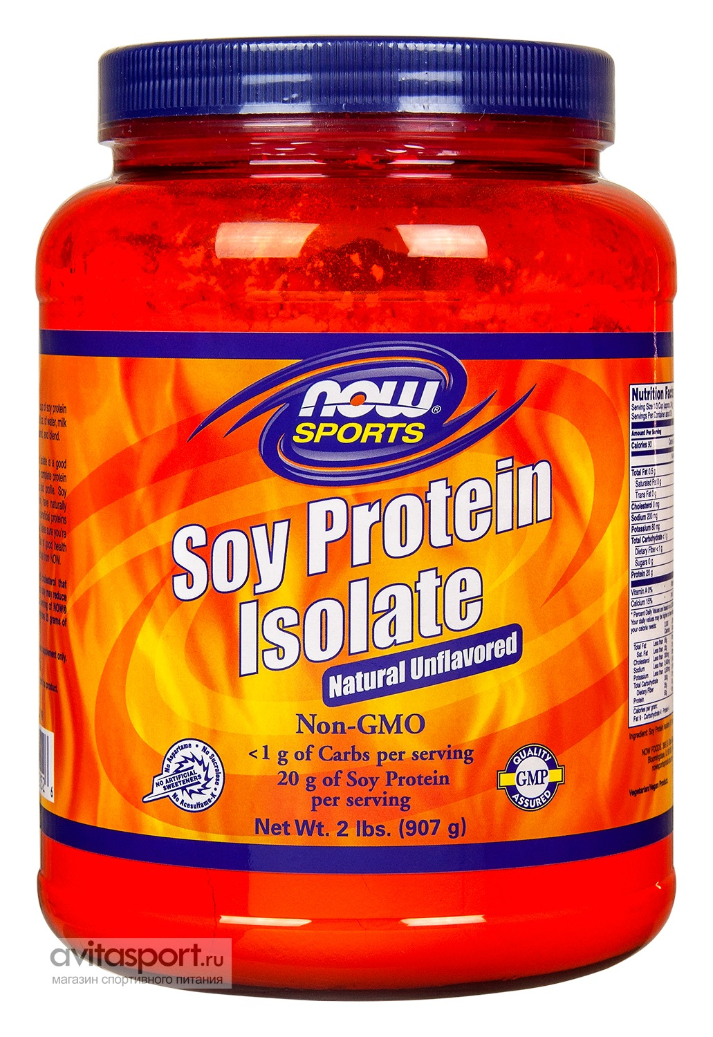 NOW Soy Protein Isolate 907 г