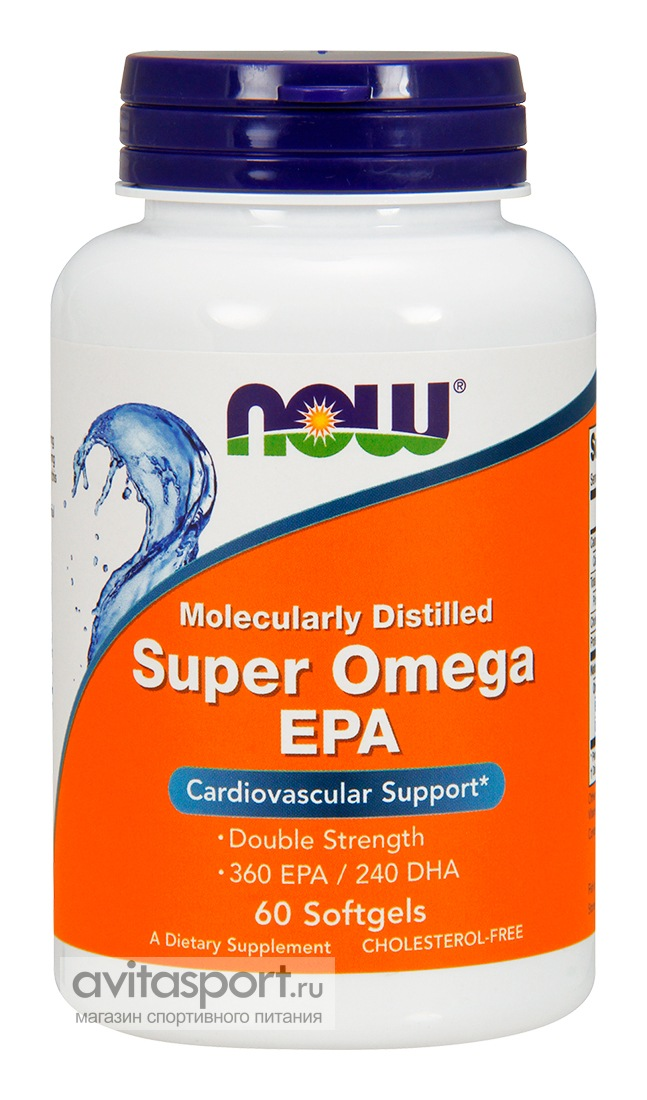NOW Super Omega EPA 60 гелевых капсул