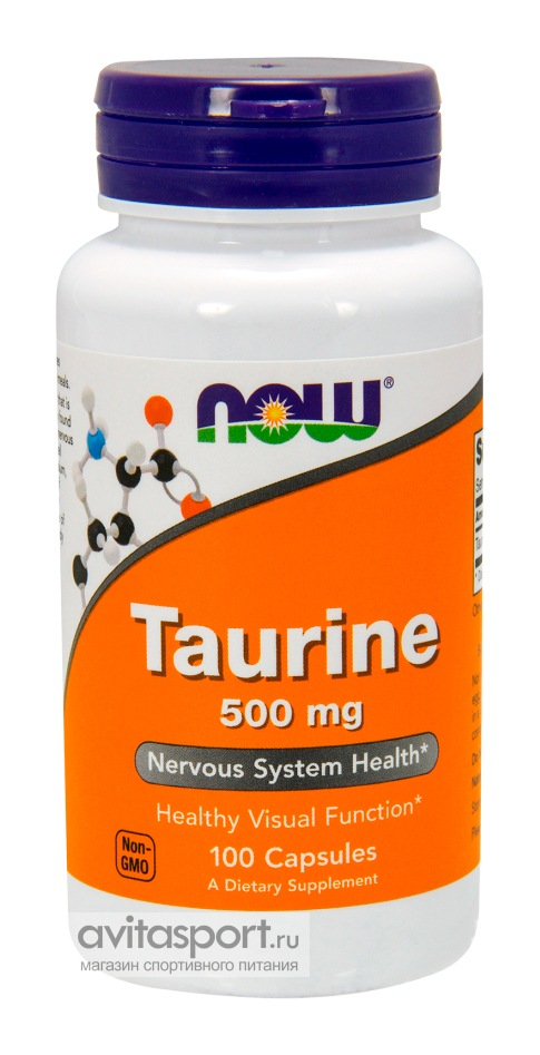 NOW Taurine 500 мг / 100 капсул