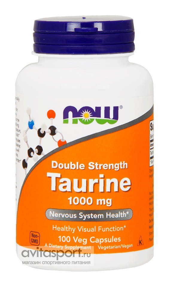 NOW Taurine Double Strength 1000 мг / 100 капсул