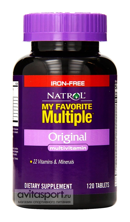 Natrol My Favorite Multiple Original 120 таблеток