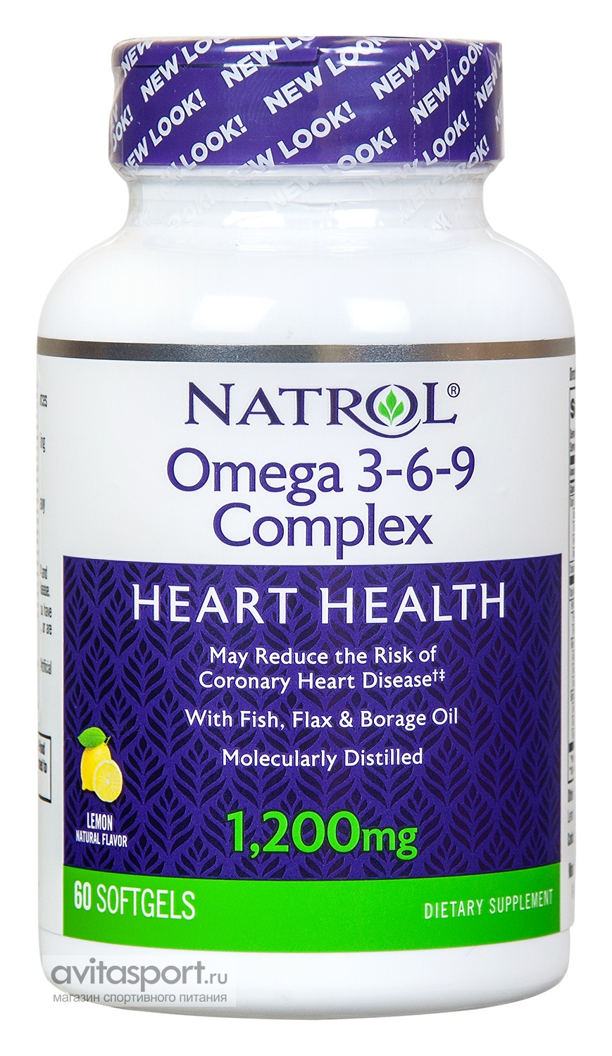 Natrol Omega 3-6-9 Complex 60 гелевых капсул