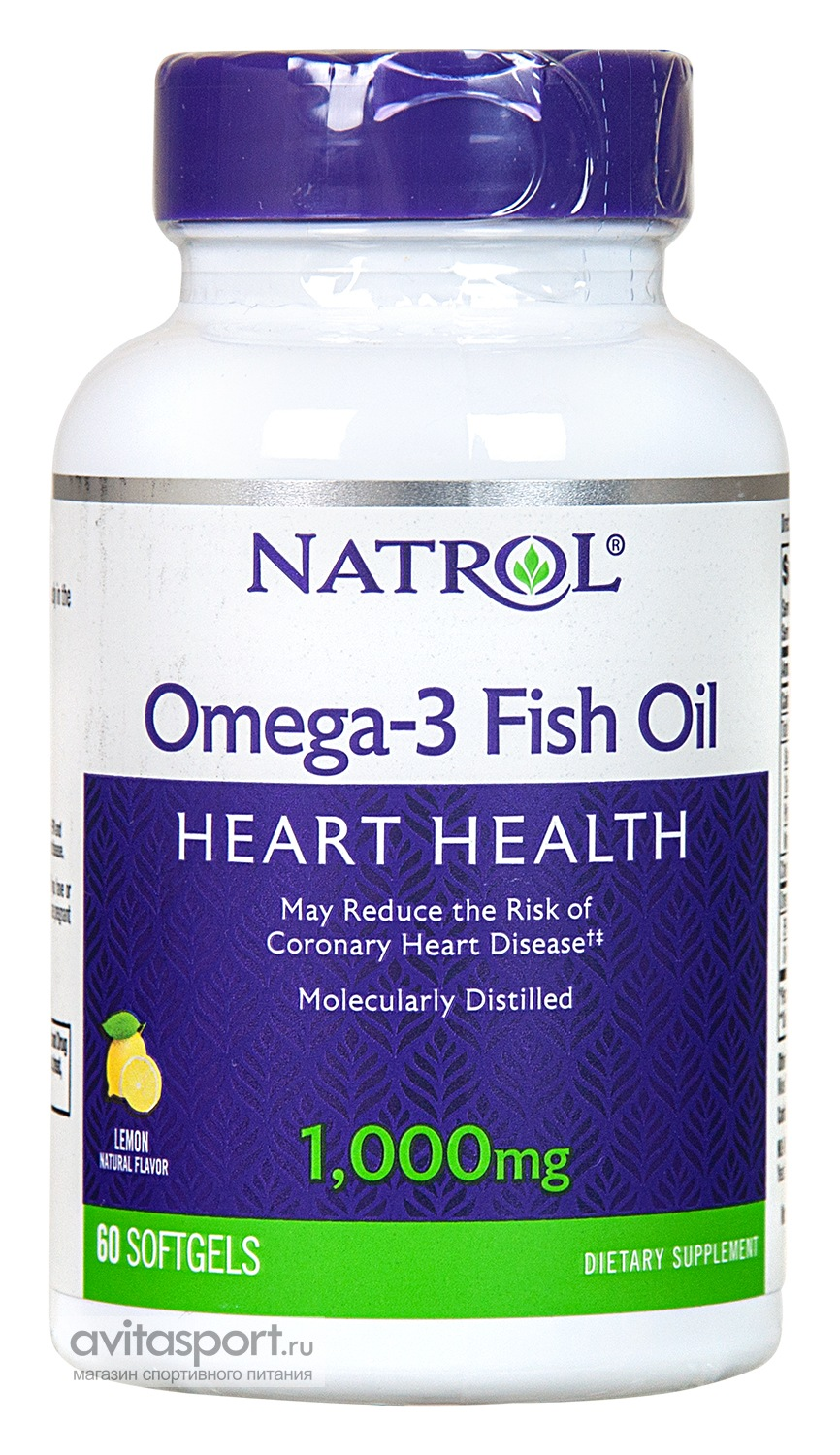 Natrol Omega-3 Fish Oil 1000 мг / 60 гелевых капсул
