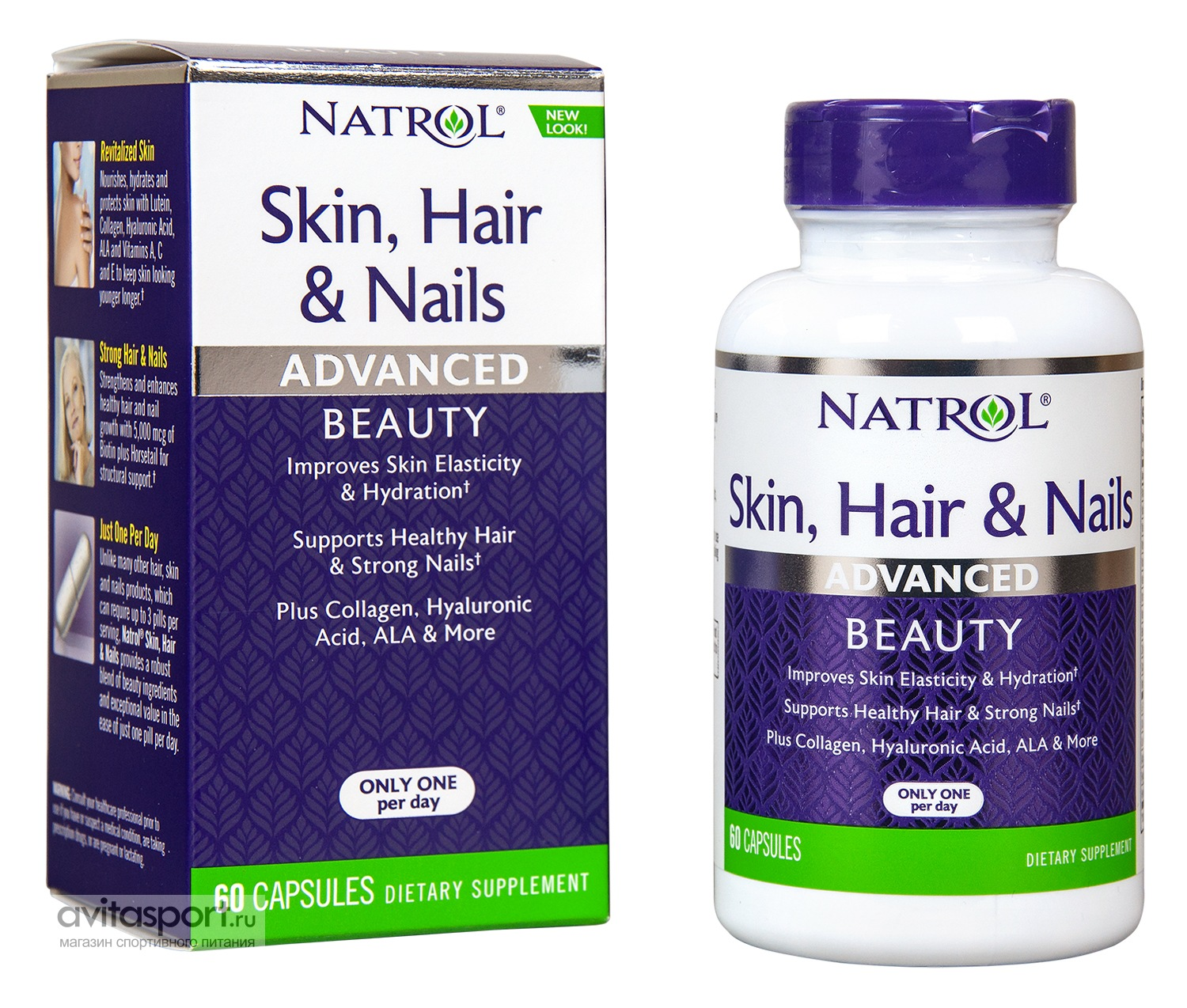 Natrol Skin, Hair & Nails Advanced 60 капсул