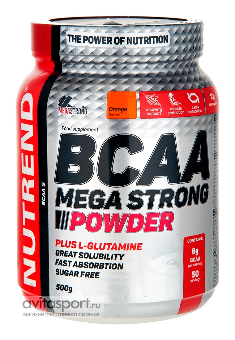 Nutrend BCAA Mega Strong Powder 500 г