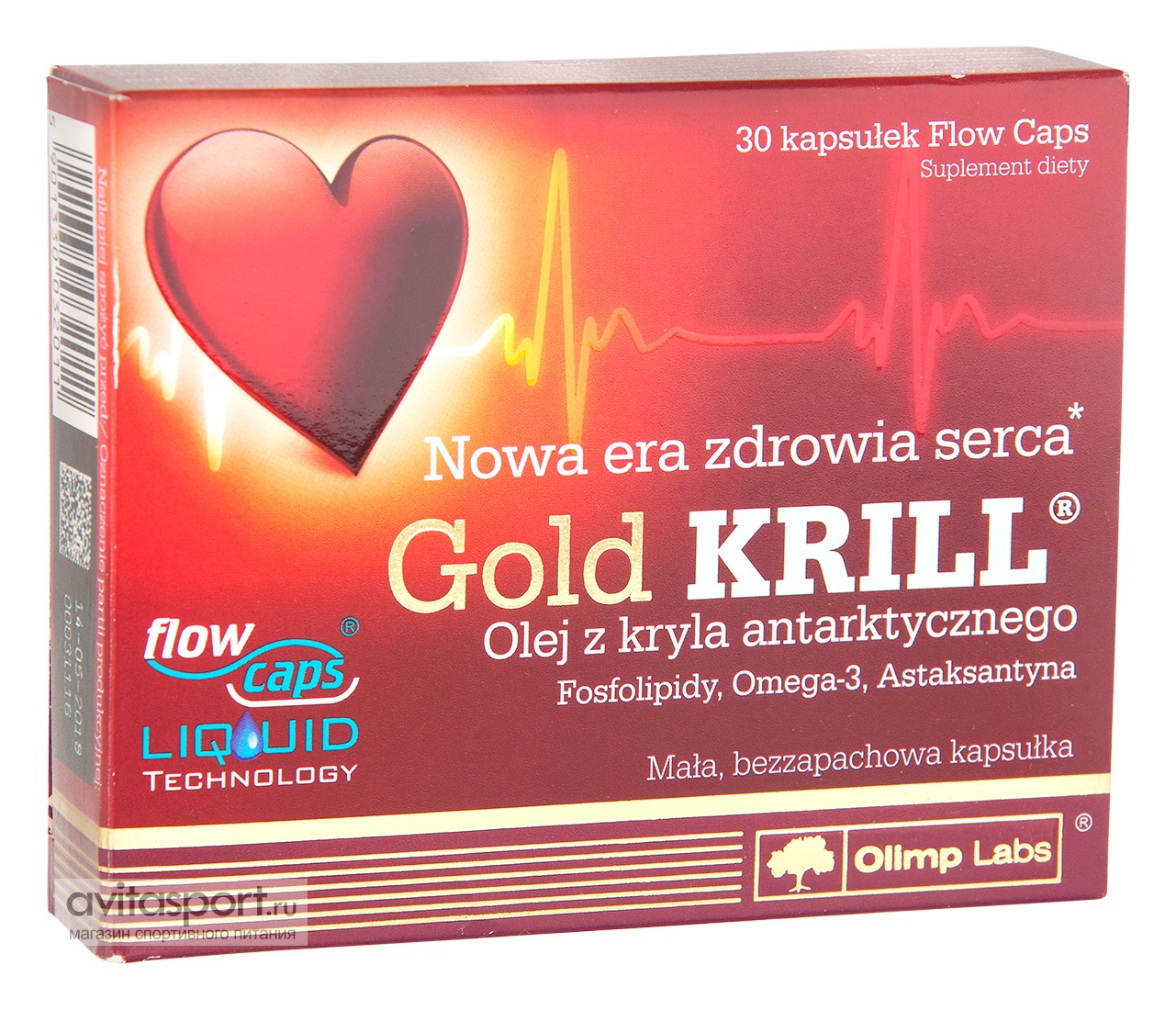 Olimp Gold Krill 30 гелевых капсул