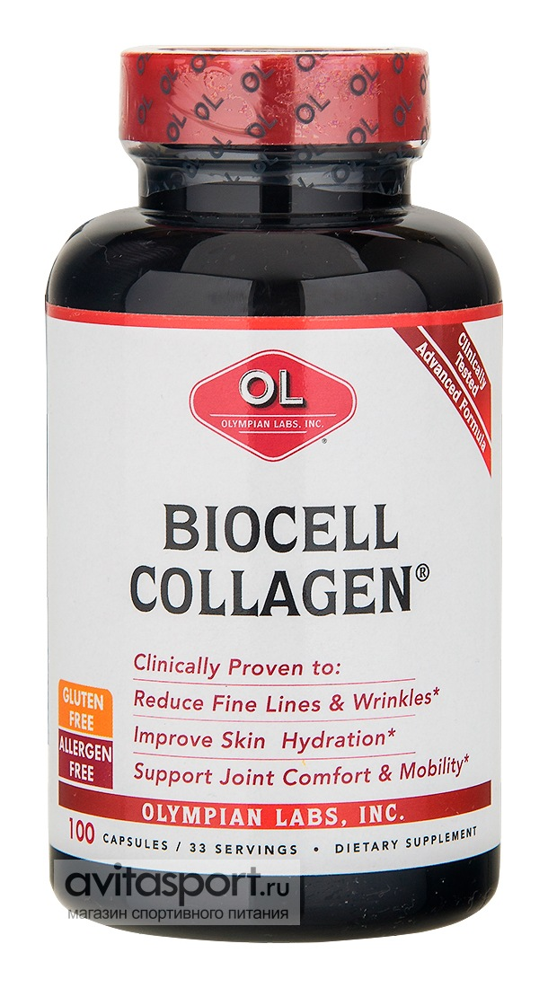 Olympian Labs Biocell Collagen 100 капсул