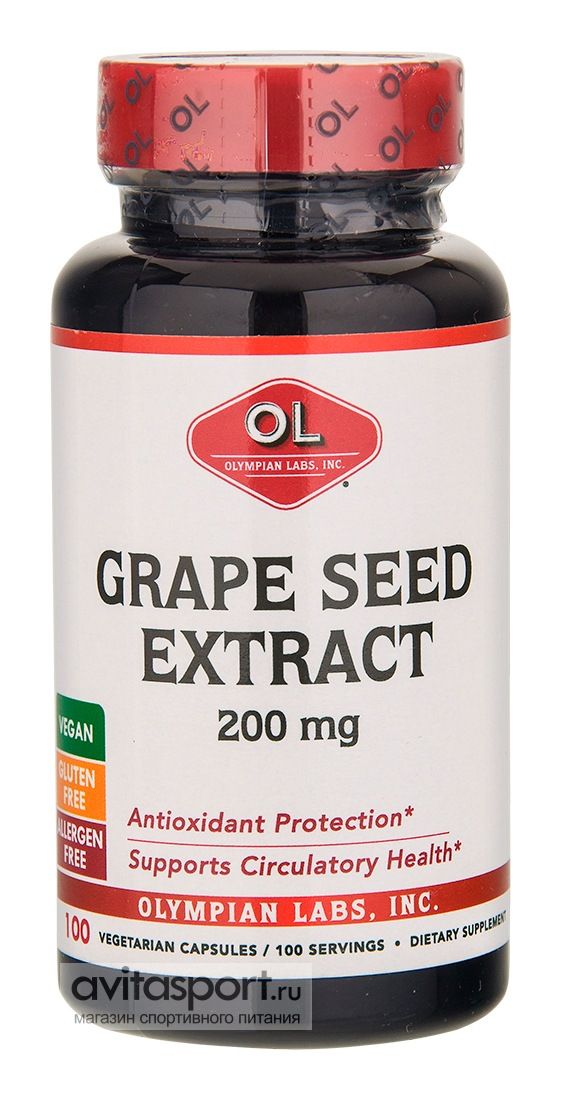 Olympian Labs Grape Seed Extract 200 mg 100 капсул