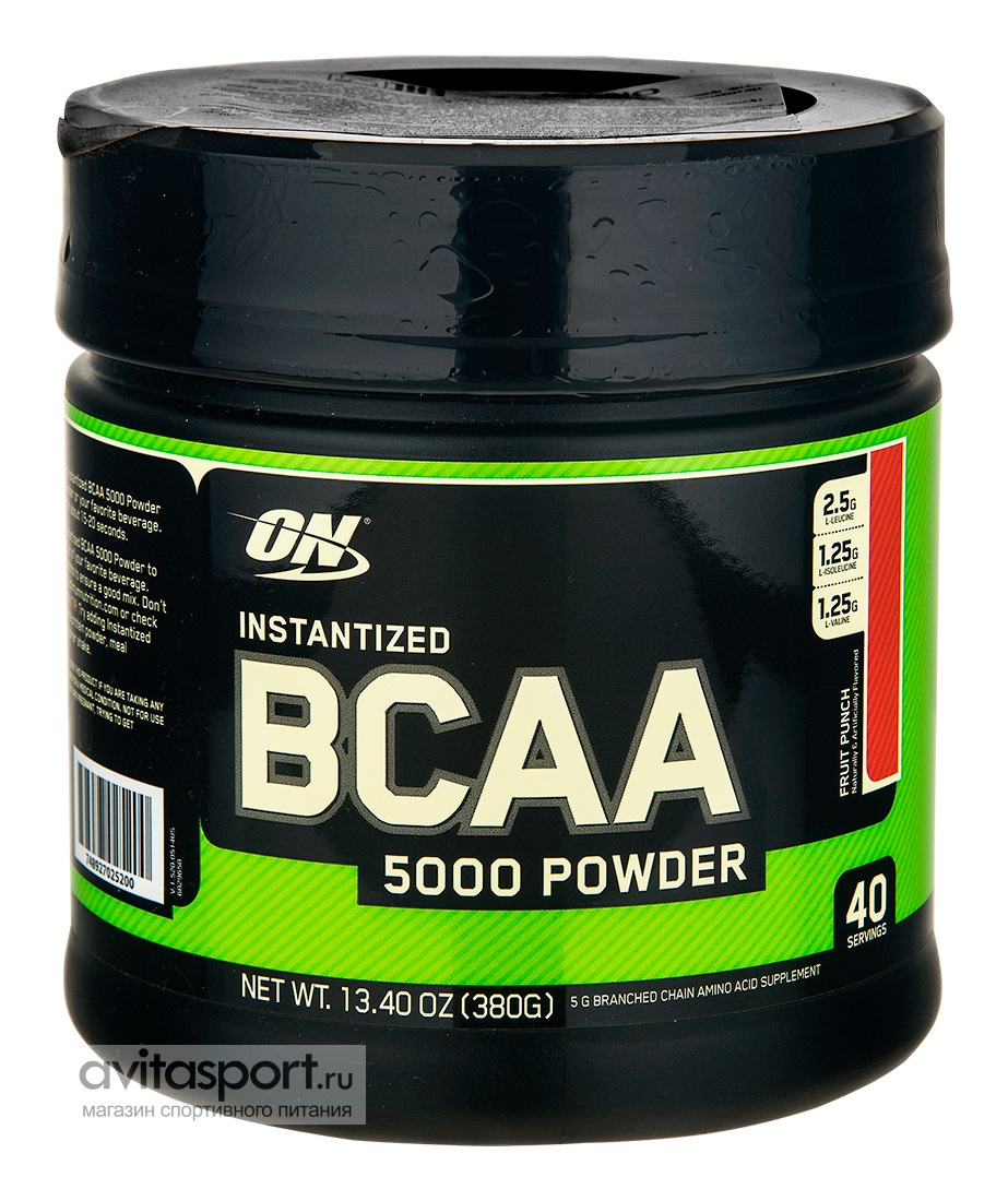 Optimum Nutrition BCAA 5000 380 г / Со вкусом