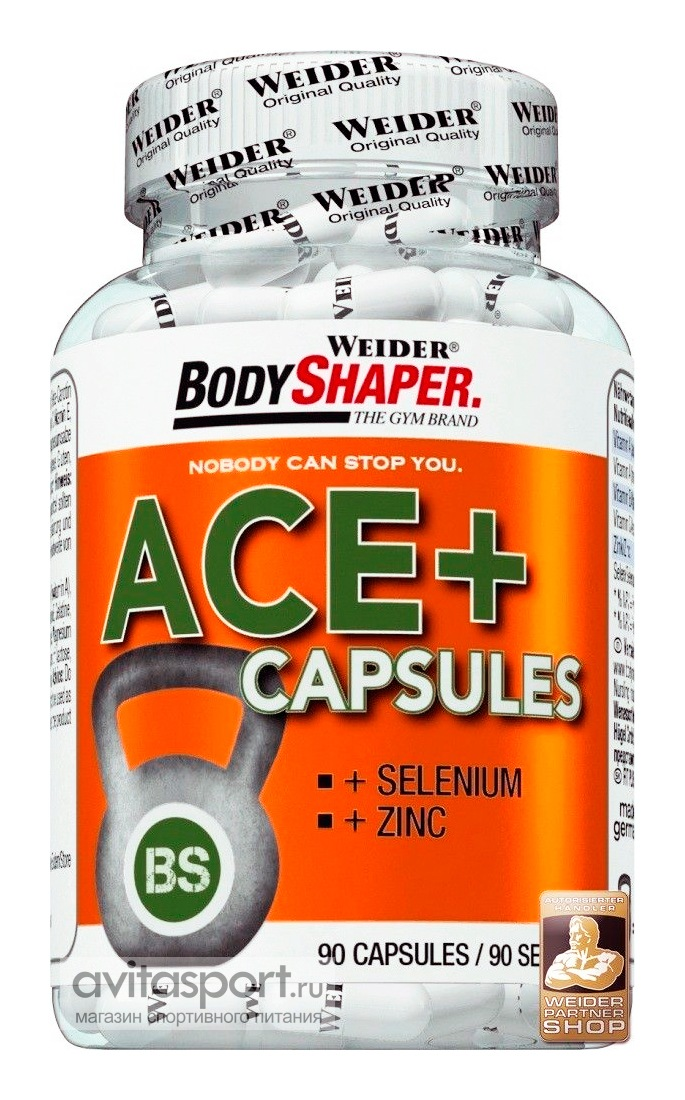 Weider ACE+ Capsules (BodyShaper) 90 капсул