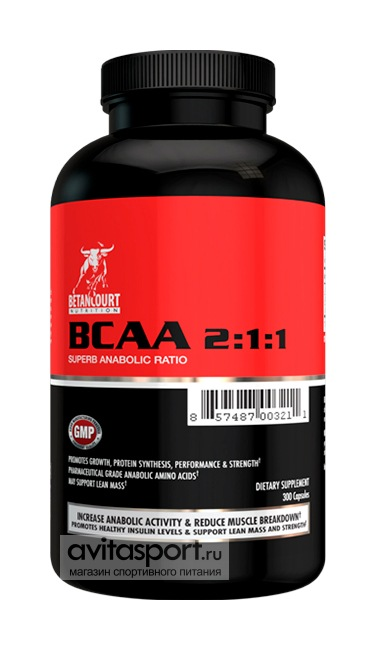Betancourt Nutrition BCAA 2:1:1 300 капсул