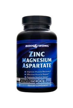 BodyStrong Zinc Magnesium Aspartare 90 капсул