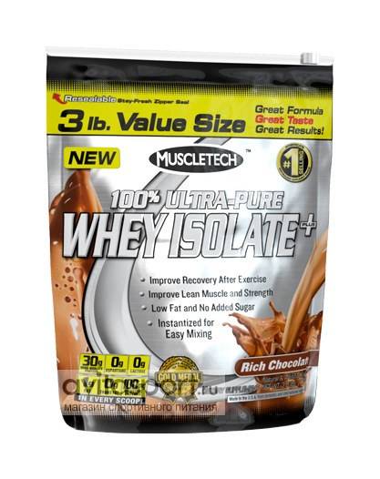 MuscleTech 100% Ultra-Pure Whey Isolate 1362 г