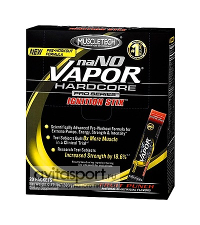 MuscleTech naNO Vapor Pro Series Ignition Stix 20 пакетиков (360 г)