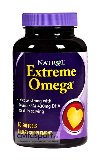 Natrol Extreme Omega 1200 мг / 60 капсул