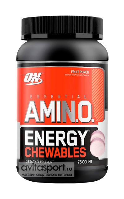 Optimum Nutrition Amino Energy Chewables 75 жевательных таблеток