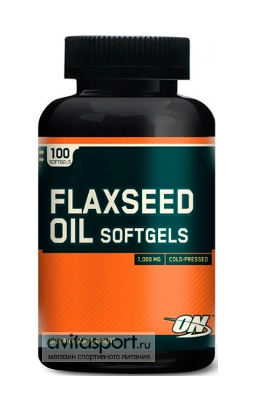 Optimum Nutrition Flaxseed Oil 100 гелевых капсул